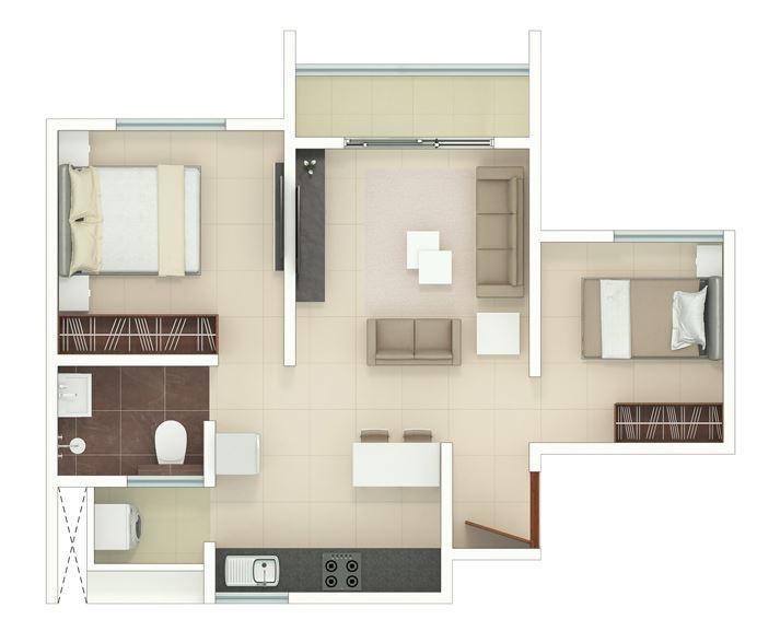 rohan upavan phase 2 apartment 1bhk st 470sqft11