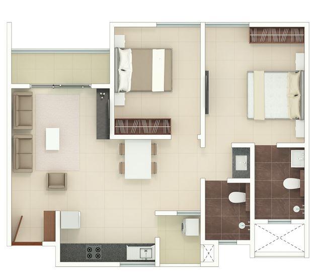 rohan upavan phase 2 apartment 2bhk 750sqft41