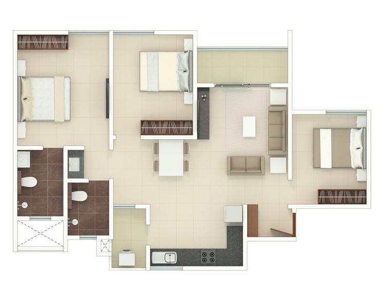 rohan upavan phase 2 apartment 3bhk 900sqft61