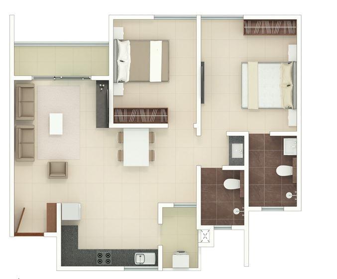 rohan upavan phase iv apartment 3 bhk 860sqft 20214109104108