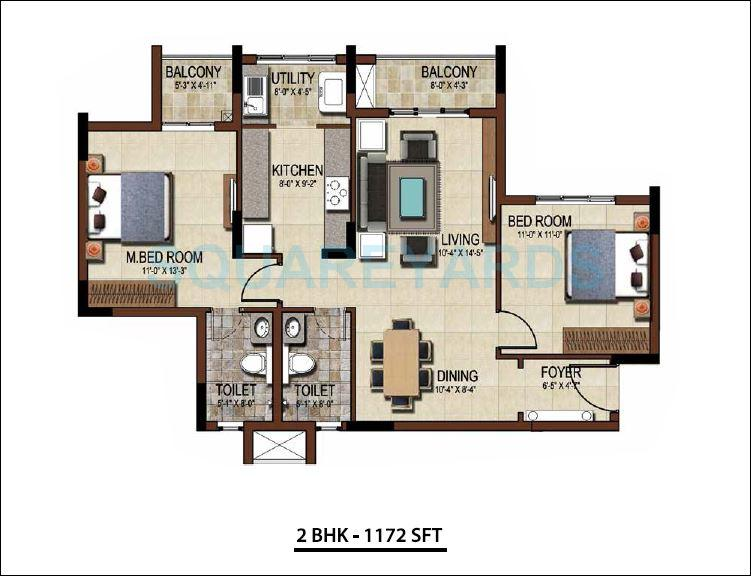 salarpuria east crest apartment 2bhk 1172sqft1