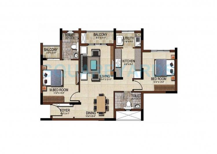 salarpuria east crest apartment 2bhk 1264sqft1