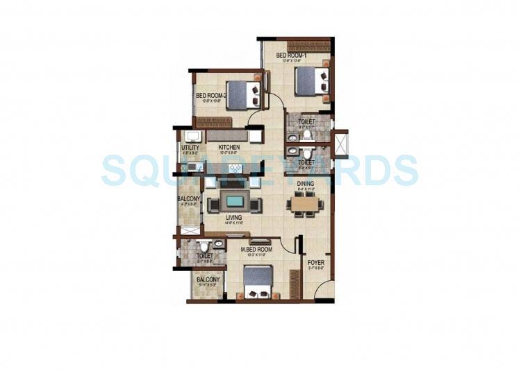 salarpuria east crest apartment 3bhk 1630sqft1