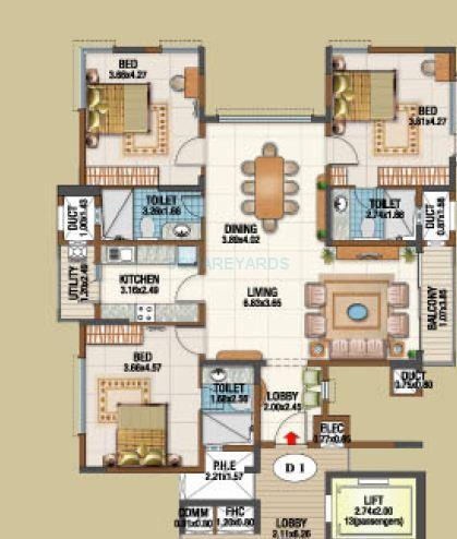 salarpuria gold summit apartment 3bhk 1933sqft1