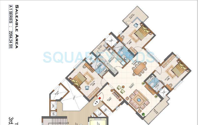 salarpuria gold summit apartment 3bhk 2264sqft1