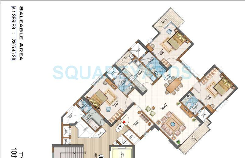 salarpuria gold summit apartment 3bhk 2365sqft1