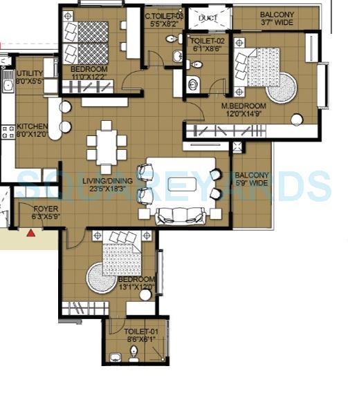 salarpuria greenage phase ii apartment 3bhk 1836sqft1