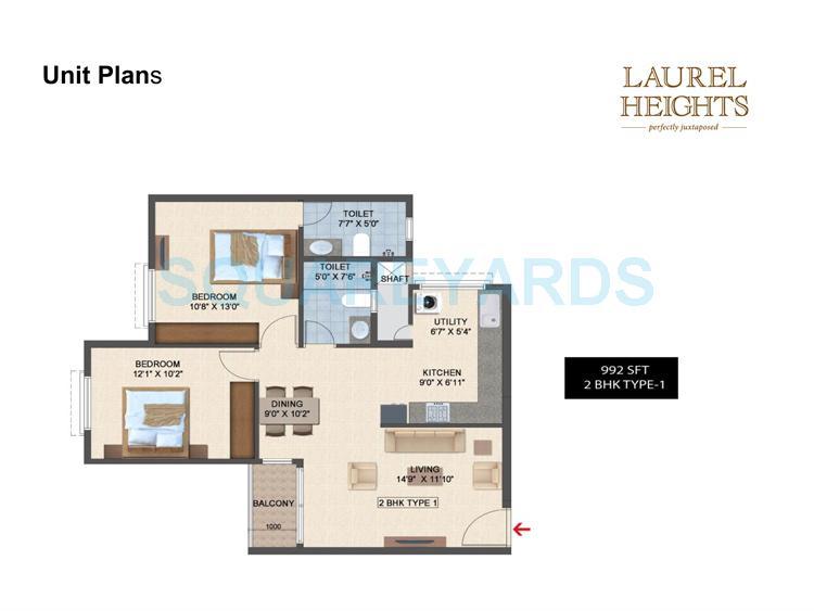 salarpuria laurel heights apartment 2bhk 992sqft1