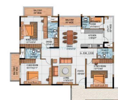 salarpuria luxuria apartment 3bhk 2475sqft1