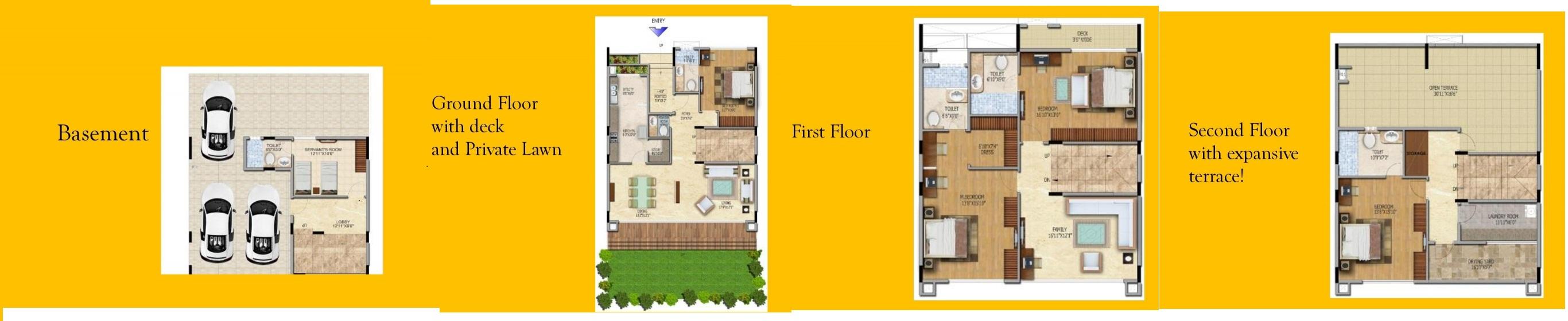 salarpuria northland villa 4bhk sq 3900sqft 1
