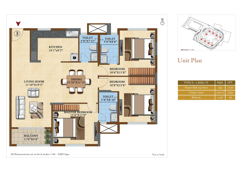 salarpuria sattva divinity apartment 3bhk 1250sqft141