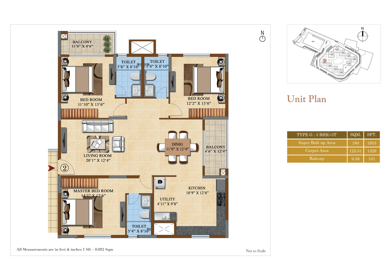 salarpuria sattva divinity apartment 3bhk 1329sqft141