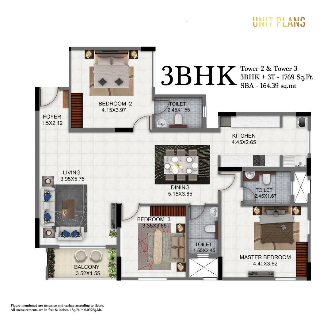salarpuria sattva exotic apartment 3bhk 1769sqft 1