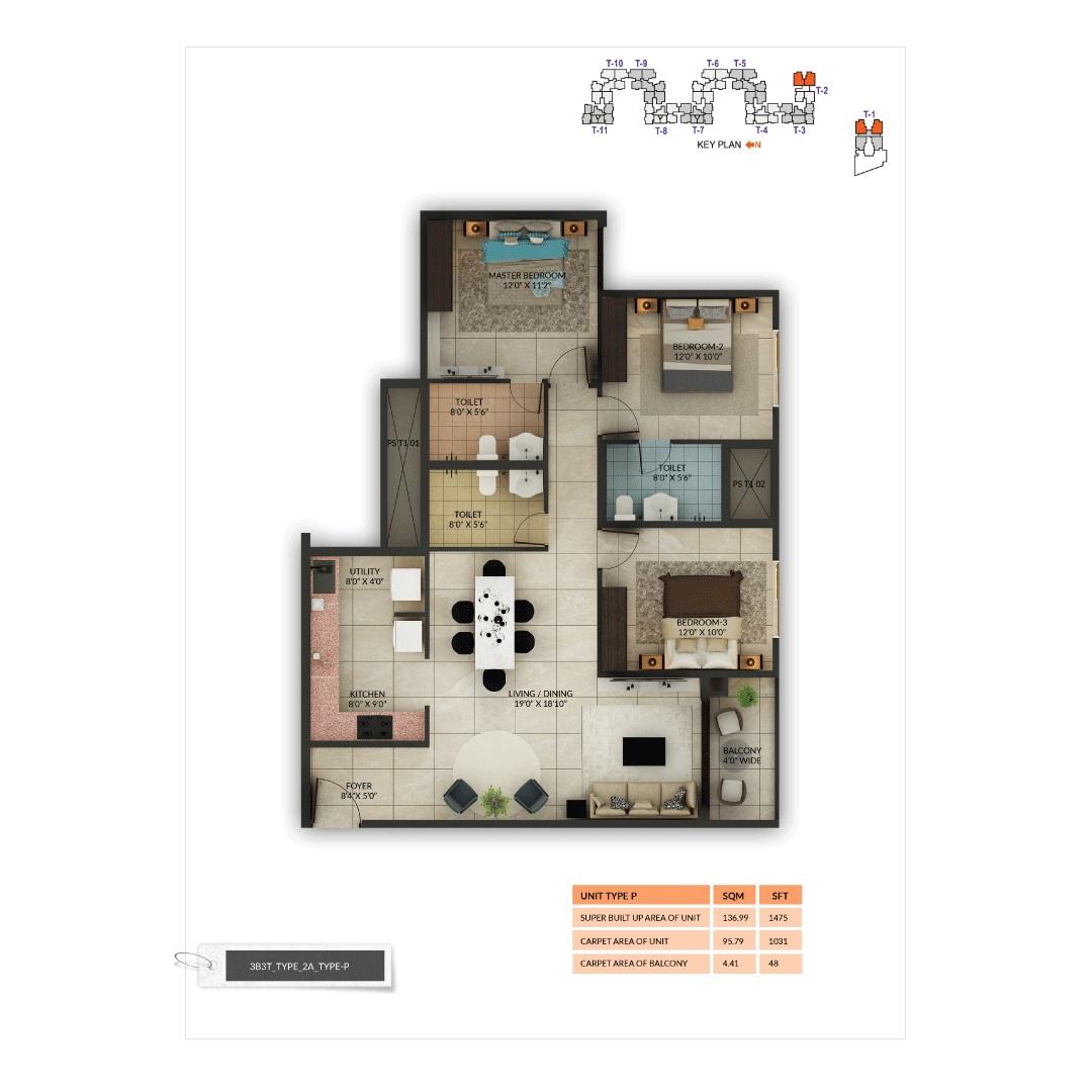 salarpuria sattva misty charm apartment 3 bhk 1475sqft 20202115162136