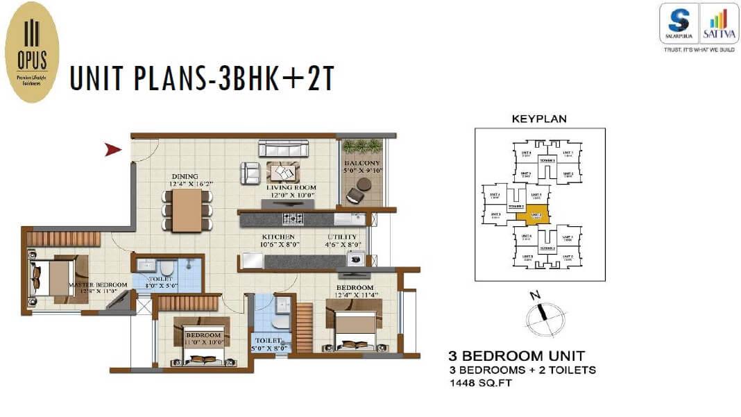 salarpuria sattva opus apartment 3bhk 1448sqft 1