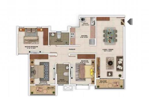 salarpuria sattva park cubix apartment 3 bhk 1282sqft 20205412155456