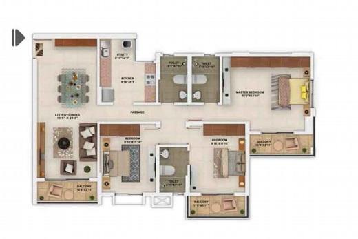 salarpuria sattva park cubix apartment 3 bhk 1498sqft 20205212155245