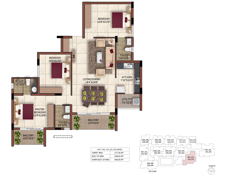 sashwath the magnolia apartment 3bhk 1171sqft61