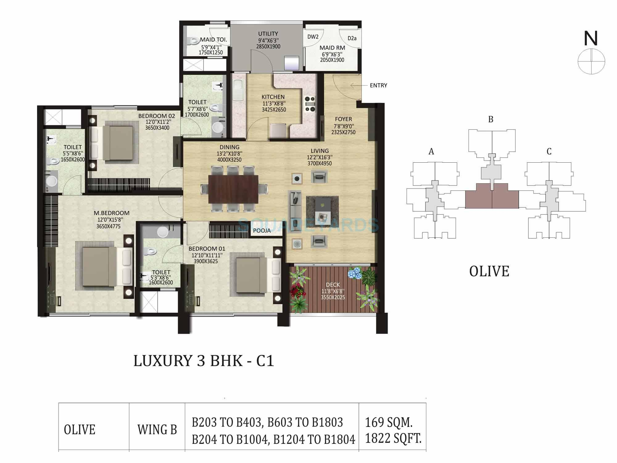 shapoorji pallonji park west apartment 3bhk 1822sqft1
