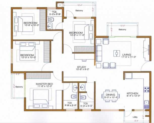 shri diya ornate apartment 4bhk 1511sqft41