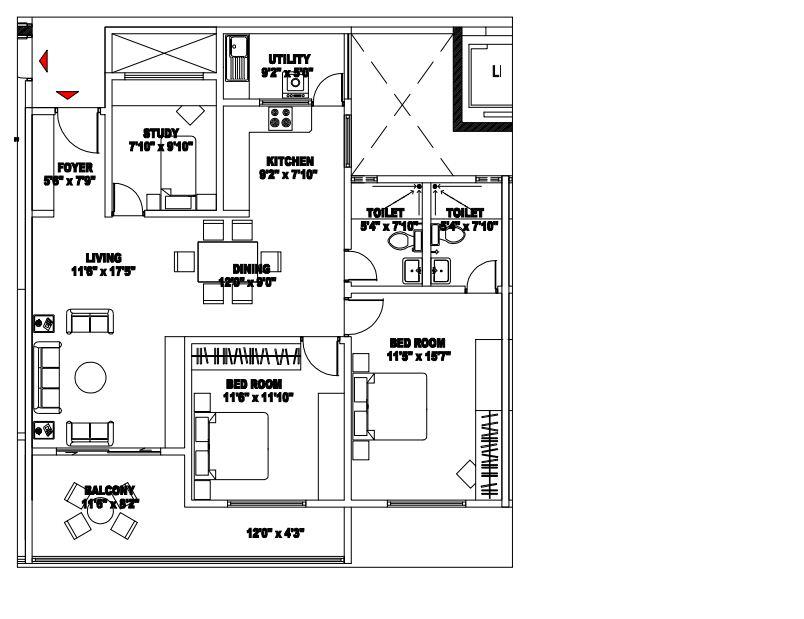 shriram chirping woods apartment 3bhk 1470sqft1