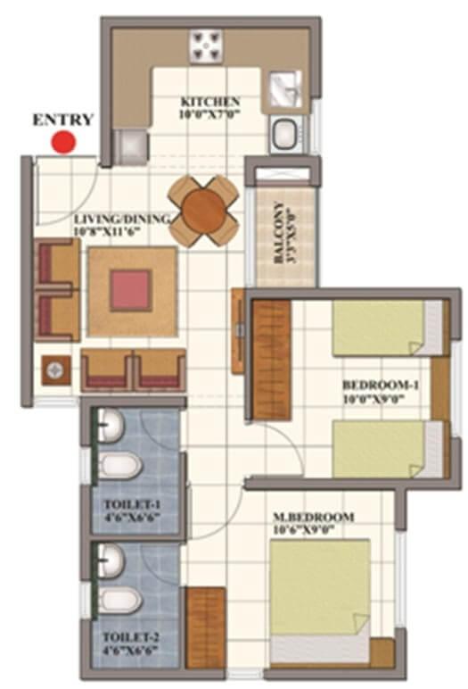 shriram codename dil chahta hai apartment 2bhk 700sqft 1