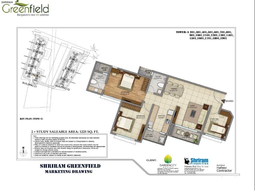 shriram greenfield apartment 2bhk st 1225sqft 1