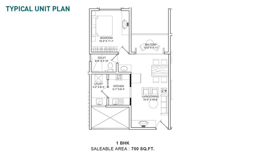 shriram sameeksha apartment 1bhk 700sqft 91