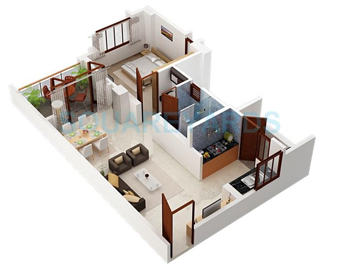 1 BHK 800 Sq. Ft. Apartment for Sale in Shriram Sameeksha at Rs ...