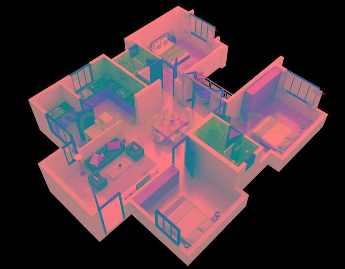 shriram sameeksha apartment 3bhk 1260sqft1