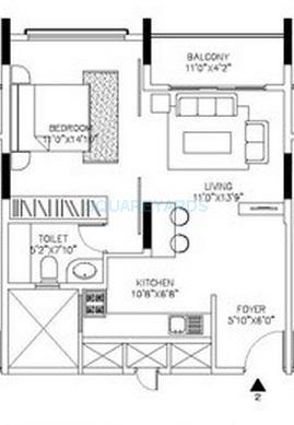 shriram signiaa apartment 1bhk 695sqft1