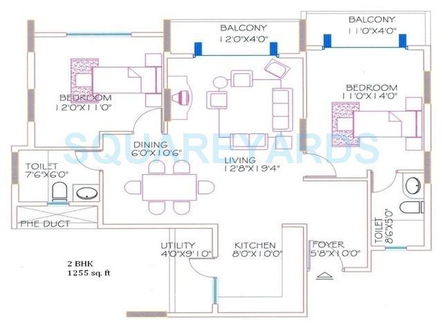 shriram signiaa apartment 2bhk 1255sqft1