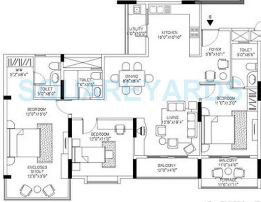 shriram signiaa apartment 3bhk 1620sqft1