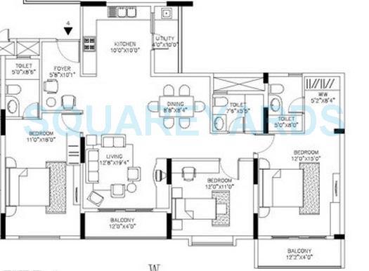 shriram signiaa apartment 3bhk 1710sqft1