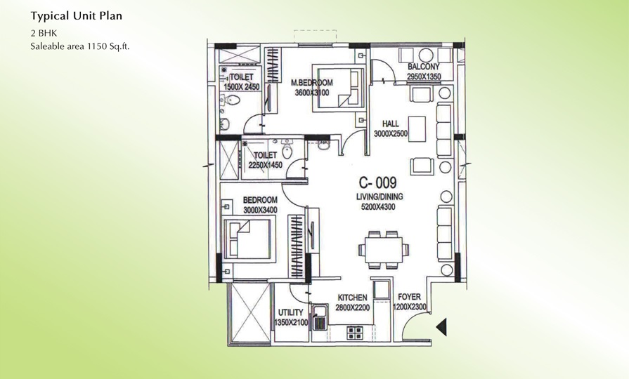 shriram smrithi apartment 2bhk 1150sqft71