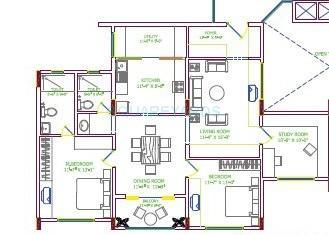 shriram suhaana apartment 2bhk 1445sqft1