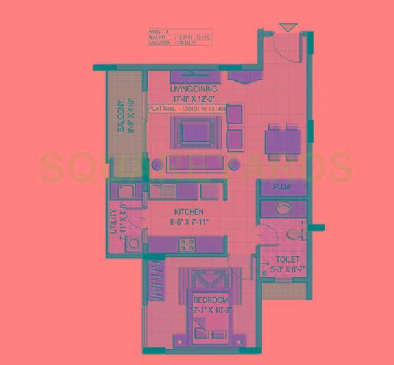 shriram summit apartment 1bhk 780sqft1
