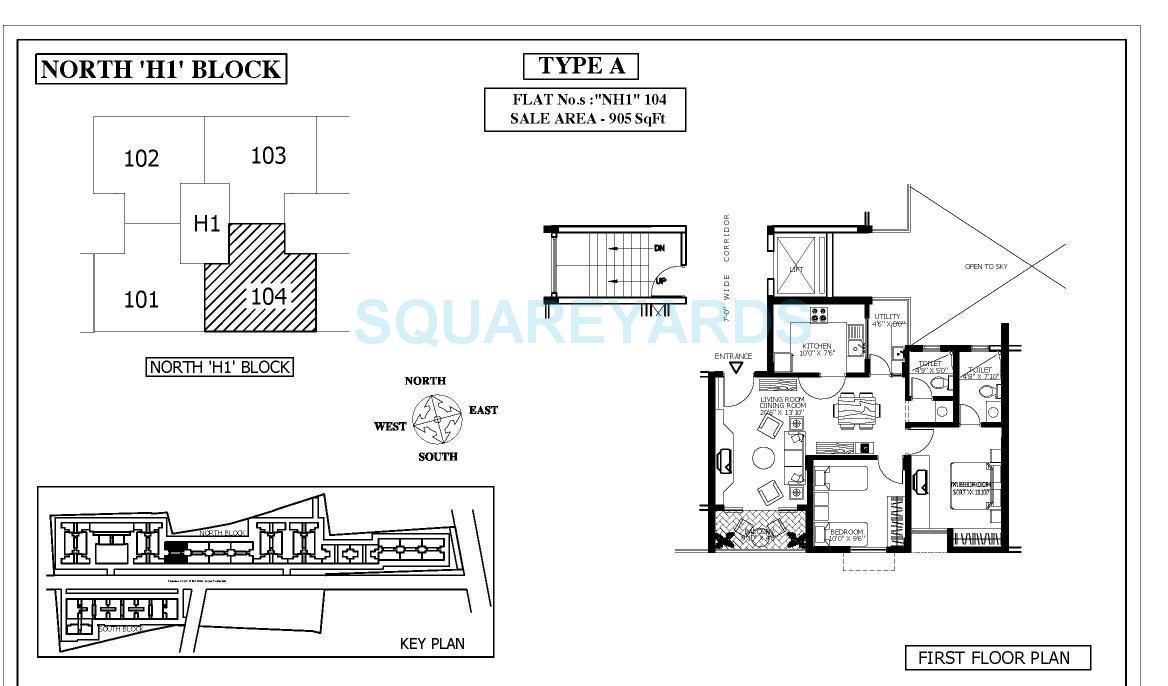 shriram surabhi apartment 2bhk 905sqft1