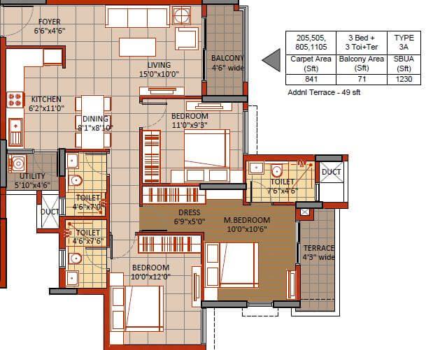 sipani veiveza apartment 2bhk 1230sqft 1