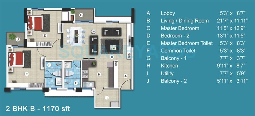 sjr primecorp blue waters apartment 2bhk 1170sqft1