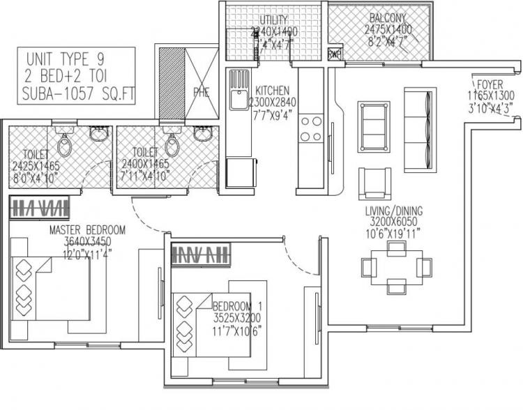 skylark royaume apartment 2bhk 1057sqft 1