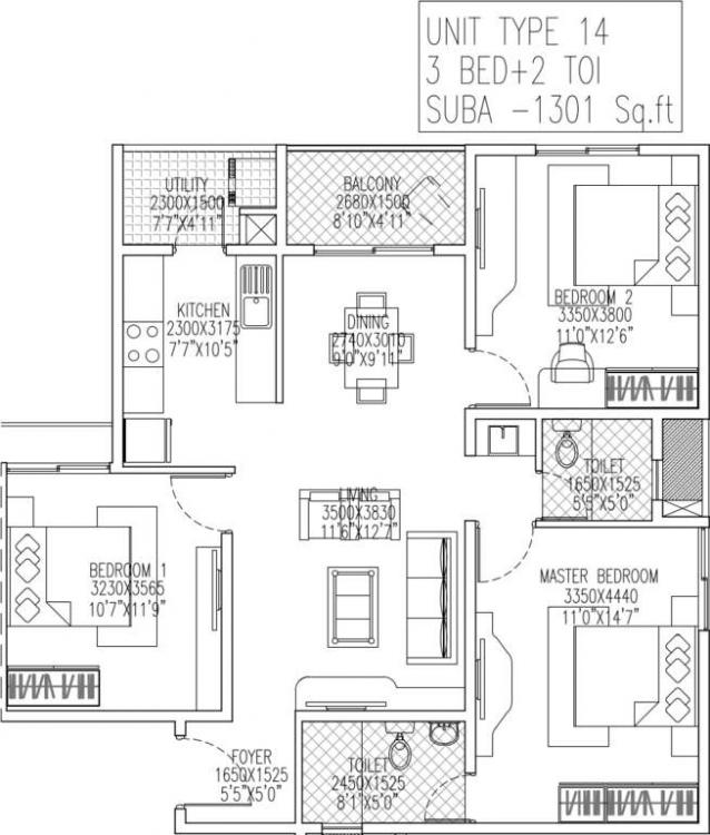 skylark royaume apartment 3bhk 1301sqft 1