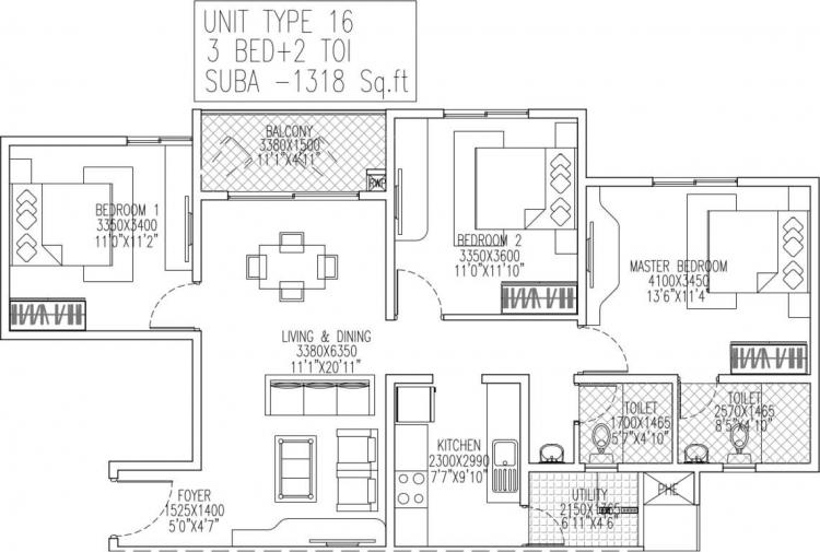 skylark royaume apartment 3bhk 1318sqft 1