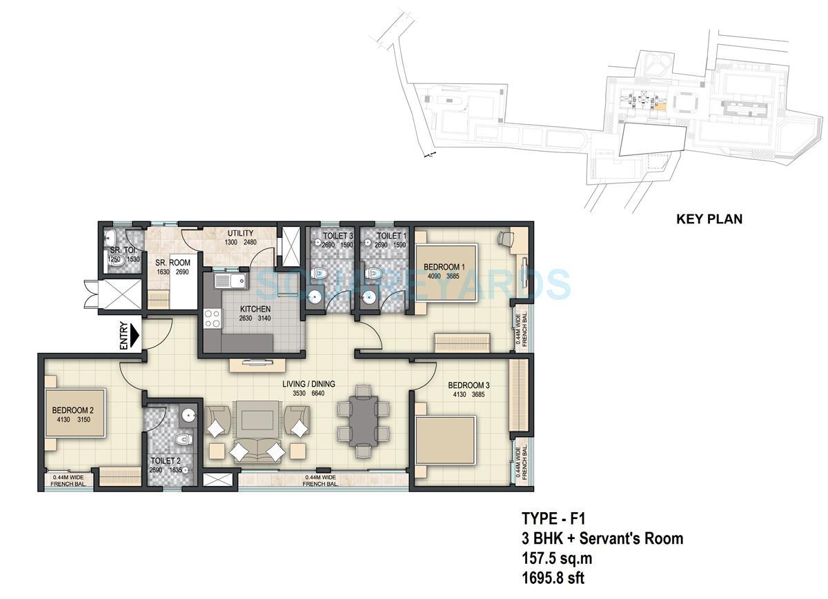 sobha arena apartment 3bhk 1695sqft 1