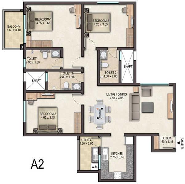 sobha avenue apartment 3 bhk 1536sqft 20204909214920