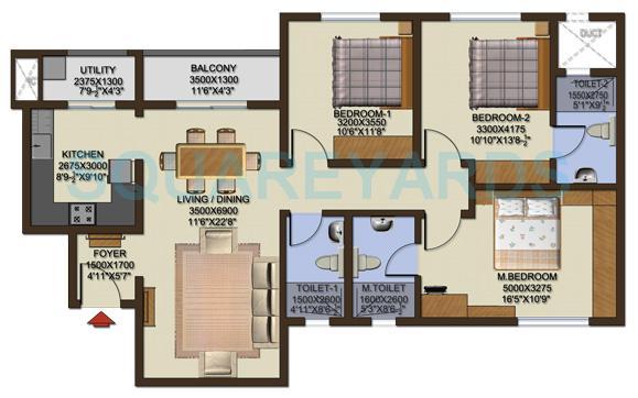 sobha cinnamon apartment 3bhk 1459sqft1