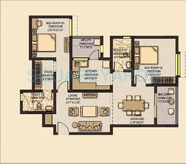 sobha city mykonos apartment 2bhk 1404sqft 20203829063802