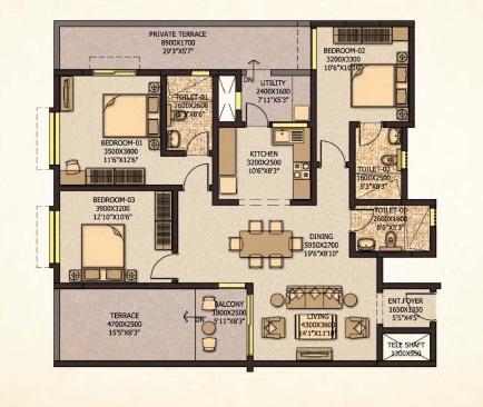 sobha city mykonos apartment 3 bhk 1564sqft 20213314163310
