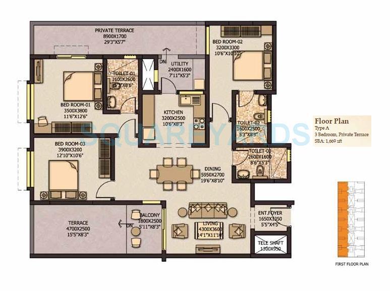 sobha city mykonos apartment 3bhk 1564sqft 20203829063856