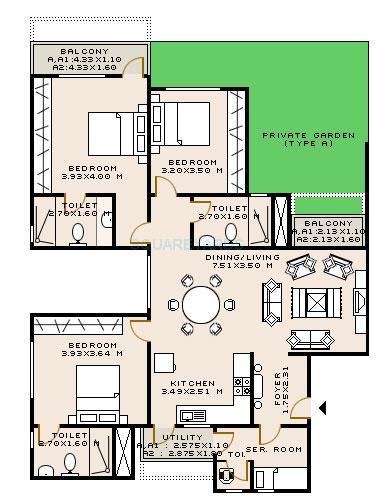 sobha dahlia apartment 3bhk 1774sqft1